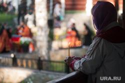 Крестный ход, приуроченный к 100-летию со дня убийства царской семьи. Екатеринбург , свеча, верующие, религия, православие