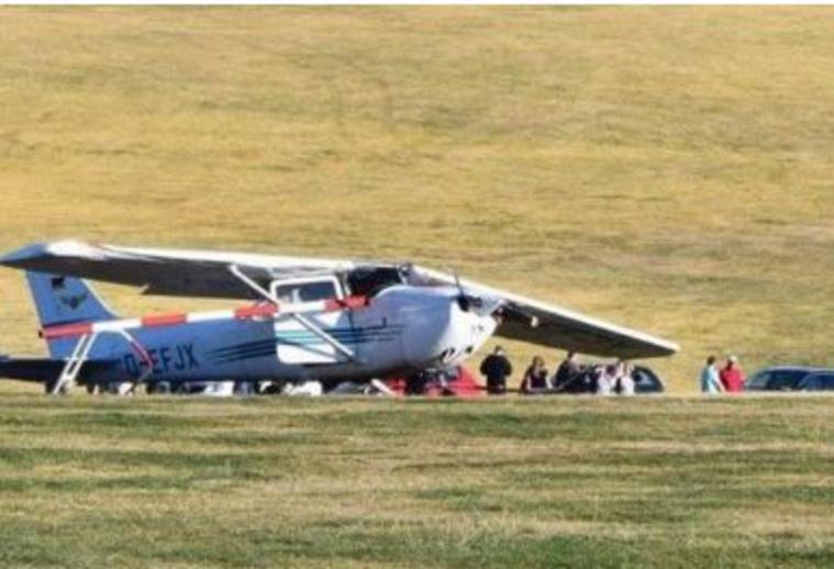 Самолет протаранил толпу людей нааэродроме вГермании