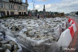 Виды Екатеринбурга, памятник ленину, дорожные работы, брусчатка, строительные работы, ремонт дороги, площадь1905 года