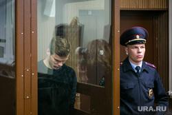 Александр Кокорин в зале Тверского районного суда г. Москвы. Москва, полиция, клетка, кокорин александр