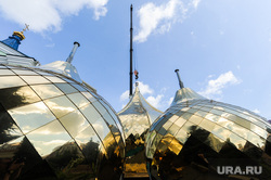 Освящение новых куполов Свято-Симеоновского храма. Челябинск, купол храма, рпц, христианство, религия, вера