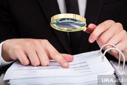 Клипарт depositphotos.com, проверка, бухгалтерия, документы, аудит, финансовая отчетность, лупа