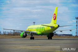 Аэропорт Челябинск, S7, летное поле, самолет