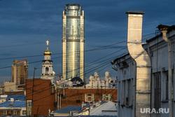 Виды Екатеринбурга, бц высоцкий, бц антей, храм большой златоуст, город екатеринбург