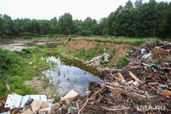 Незаконные карьер и свалка в Перевалово. Тюменский район, свалка мусора, карьер, добыча песка, мусор