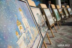 Рабочий визит ВРИО губернатора Свердловской области в Краснотурьинск, картина, храм, церковь, искусство, живопись