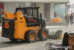 Виды Екатеринбурга, уборка снега, снегоуборочная техника, непогода, плохая погода, снегоуборочная машина