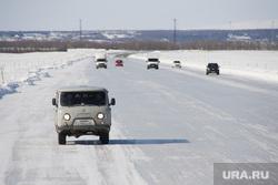 Ледовая переправа Салехард - Лабытнанги. 13 апреля 2017 г, зима, север, зимняя дорога, ледовая переправа