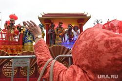 Парад-карнавал участников Всемирного фестиваля молодежи и студентов. Москва, китай
