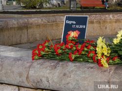 Цветы на площади Труда. Екатеринбург, площадь труда, керчь, хризантемы, мемориал, цветы