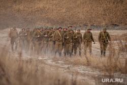 Реконструкция боевых действий Великой Отечественной войны. Сургут, солдаты, вов, реконструкторы, пехота, пехота на марше, великая отечественная война