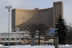 Зимняя Москва, гостиница космос, город москва