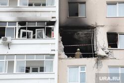 Последствия взрыва бытового газа в многоквартирном жилом доме в Перми на ул. Разина , многоэтажка, разрушение, взрыв газа, недвижимость, копоть, разрушенный дом, выбитые стекла