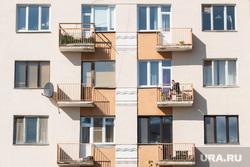 Виды Екатеринбурга, жилой дом, архитектура, конструктивизм, балкон, окно
