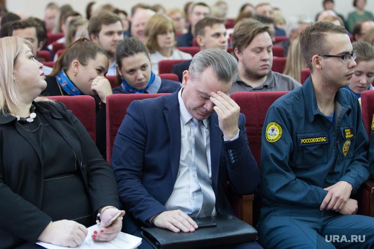 Встреча врио губернатора со студентами и преподавателями КГУ. г. Курган, абрамов эдуард
