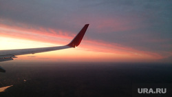 Клипарт, самолет, закат, полет, небо