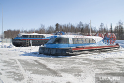 Ледовая переправа Салехард - Лабытнанги. 13 апреля 2017 г, ледовая переправа, катера на воздушной подушке