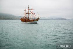 Клипарт. Коктебель, море, корабль, прогулочное судно, парусник