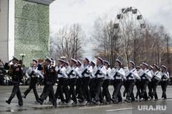 Военный парад, посвященный 73-й годовщине победы в Великой Отечественной войне. Свердловская область, Верхняя Пышма, марш, 9мая, морфлот, верхняя пышма, моряки, парад победы, строй, военный парад