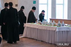 Празднование 75-летия Курганской области. Курган, фуршет, священники, пост, монахи, религия, еда, попы, банкет, поститься
