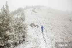 Туристический поход по хребту Нурали, Южный Урал, туризм, тропа, природа урала, снег, зима, горы, нурали, турист одиночка, трикинг