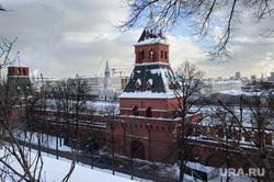 Зимняя Москва, город москва, кремль