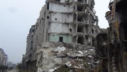Волонтер Евгений Ганеев в Сирии, хомс