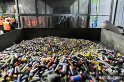 Запуск модернизированной линии переработке использованных батареек на заводе «Мегаполисресурс». Челябинск, бункер, батарейки