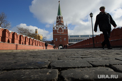 Зимняя Москва, город москва, кремль, троицкая башня кремля