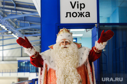 Пресс-конференция по случаю приезда Деда Мороза из Великого Устюга. Челябинск, вип ложа, дед мороз