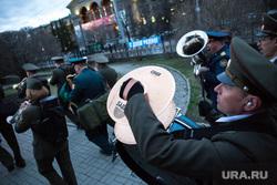 Шествие студентов радиофака. Екатеринбург, оркестр, военные, митинг, день радио