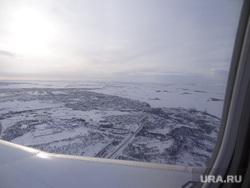 Комиссия ЦИК в Сабетте, вид из самолета, ямал, вид сверху