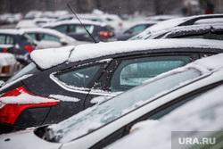 Снегопад. Екатеринбург, автомобили, парковка, зима, стоянка