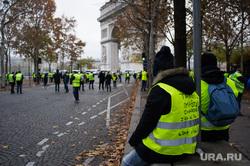 Акция протеста против повышения налога на бензин и дизельное топливо на Елисейских полях. Франция, Париж, париж, франция, акции протеста