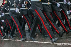 Репетиция Парада Победы. Курган, кадеты, марш, лампасы, строевой шаг