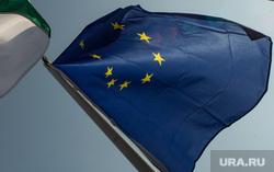 Виды Венгрии. Будапешт, Сзалка, Пакш, флаг евросоюза, венгрия, флаг венгрии