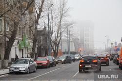 Туман. Тюмень, туман, проезжая часть, улица перекопская