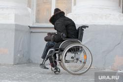 Холод в Кургане, зима, инвалид колясочник