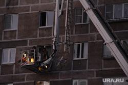 Взрыв бытового газа в доме № 164 на проспекте Карла Маркса. Магнитогорск, мчс, жилой дом, люлька, пожарная лестница