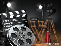 Клипарт depositphotos.com. , кинематограф, кинопленка, хлопушка для кино