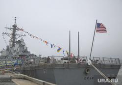 Американские эсминцы, военный корабль, американский флаг, военный корабль, эсминец сша