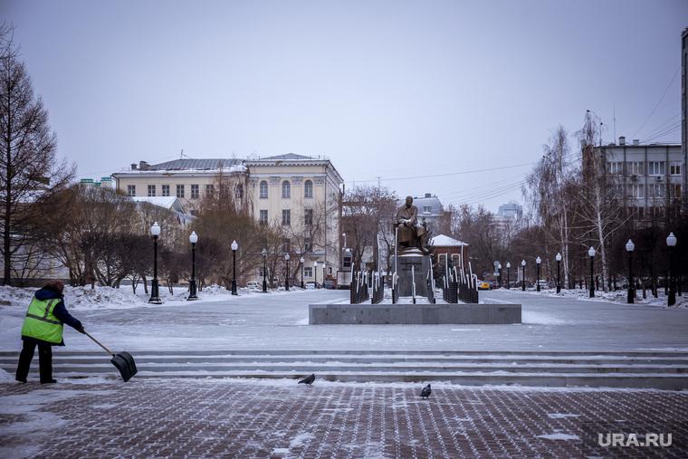 Обновленный сквер Попова. Екатеринбург