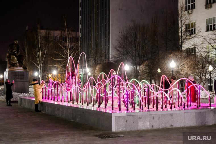 Сквер Попова после реконструкции. Екатеринбург, фонтан, сквер попова, иллюминация, светодиоды