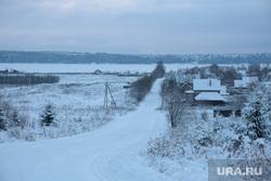 Заозерье место строительства нового моста. Пермь, зима, деревня