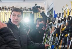 Рабочая поездка губернатора СО в Туринск, куйвашев евгений, лыжи