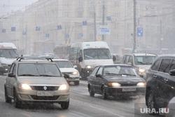 Снегопад. Челябинск, транспорт, дорожное движение, снег, снегопад, проспект ленина, автомобили