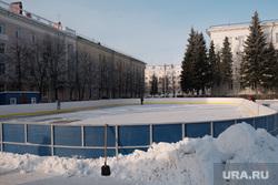 Заливка катка на площади им. Ленина. Курган, каток, площадь ленина