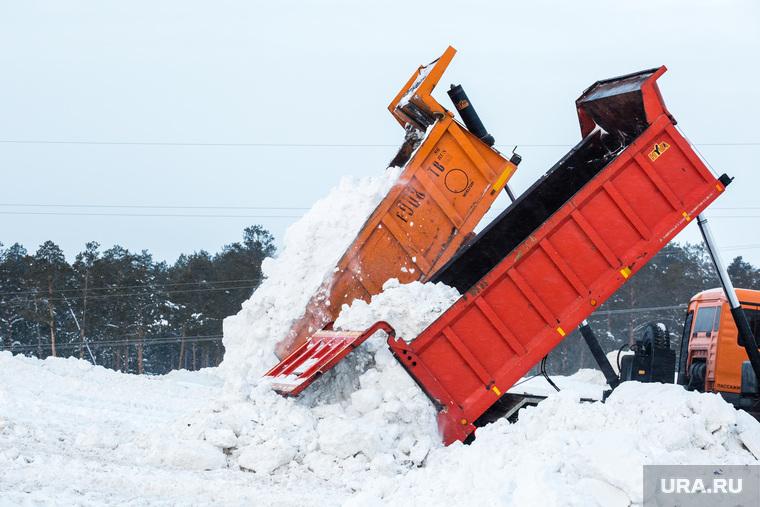 Полигон для складирования снега компании ЮВИС. Сургут