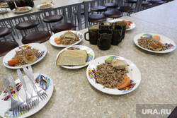 Столовая в школе №112. Пермь, каша гречневая, еда, школьная столовая, обед