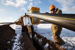 Прокладка нового газопровода высокого давления. Газпром газораспределение Екатеринбург, газопровод